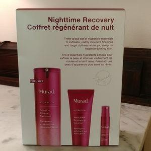 NWT. Murad Nighttime Recovery 3-Piece Skincare Set